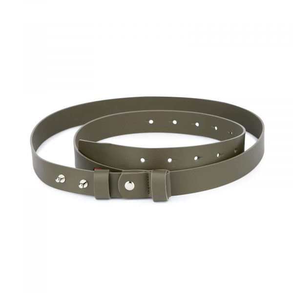 1 inch womens green belt without buckle 1