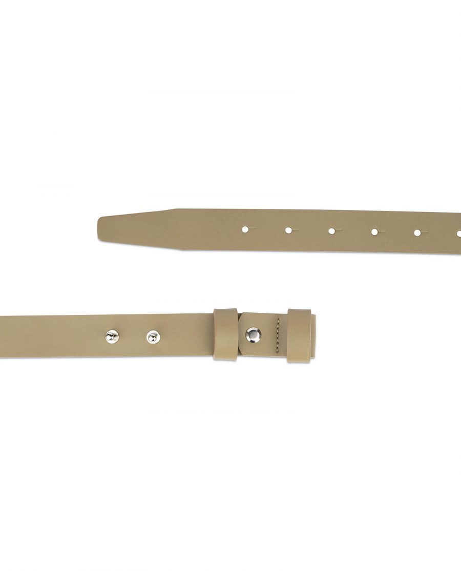 1 inch womens khaki belt without buckle 2