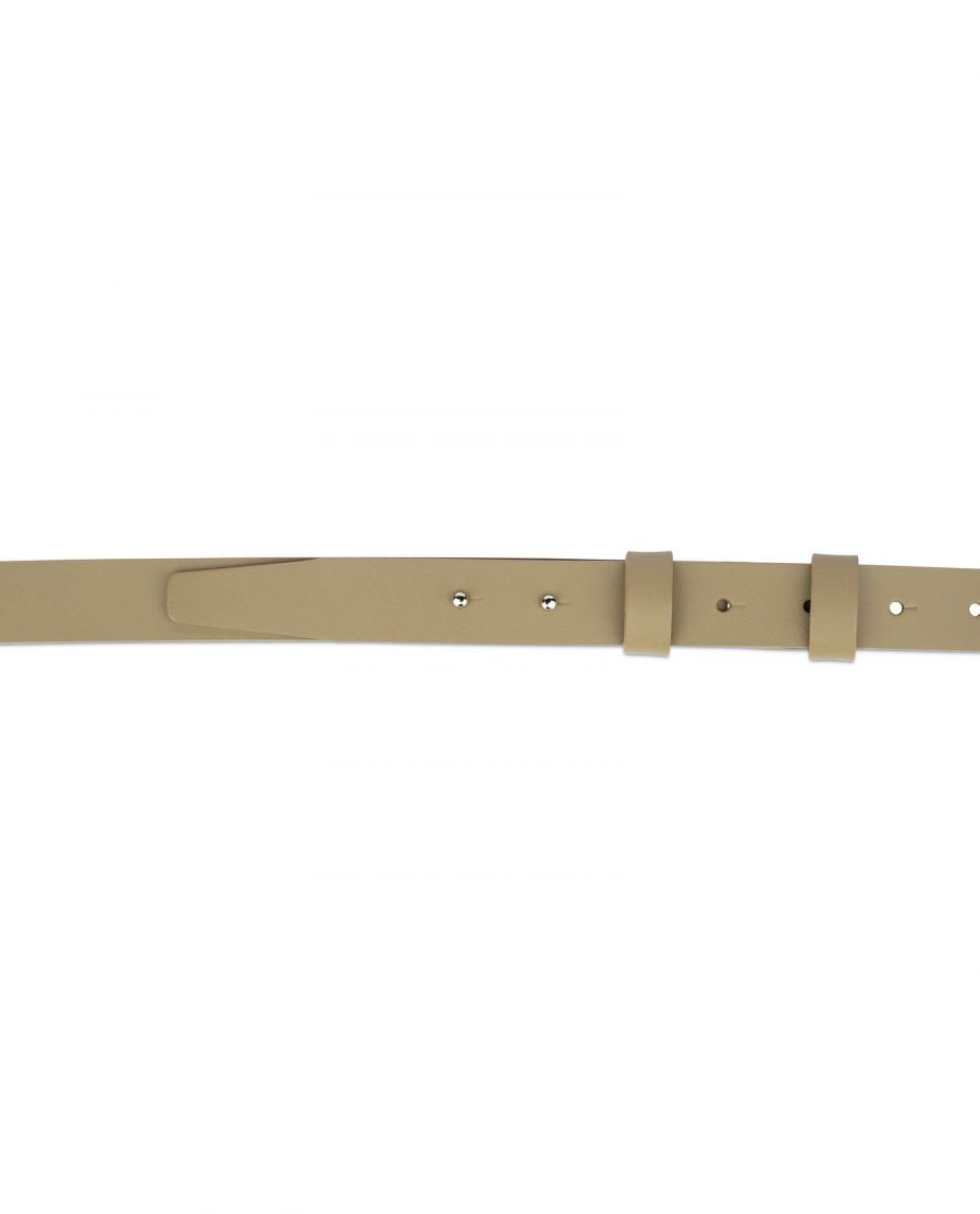 1 inch womens khaki belt without buckle 3