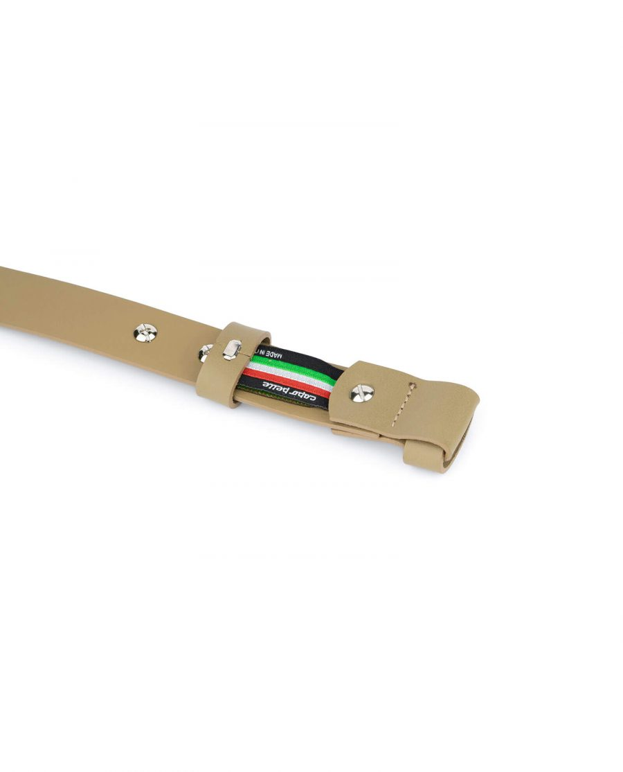 1 inch womens khaki belt without buckle 4
