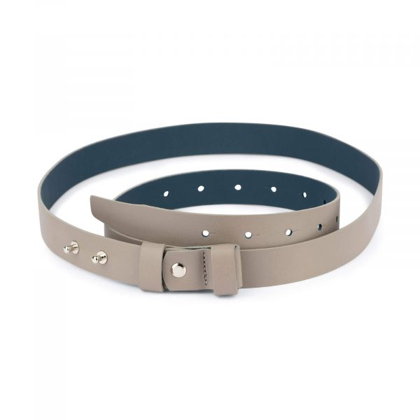 1 inch womens taupe belt without buckle 1