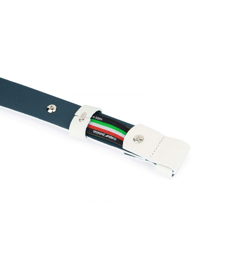 1 inch womens white belt without buckle 4