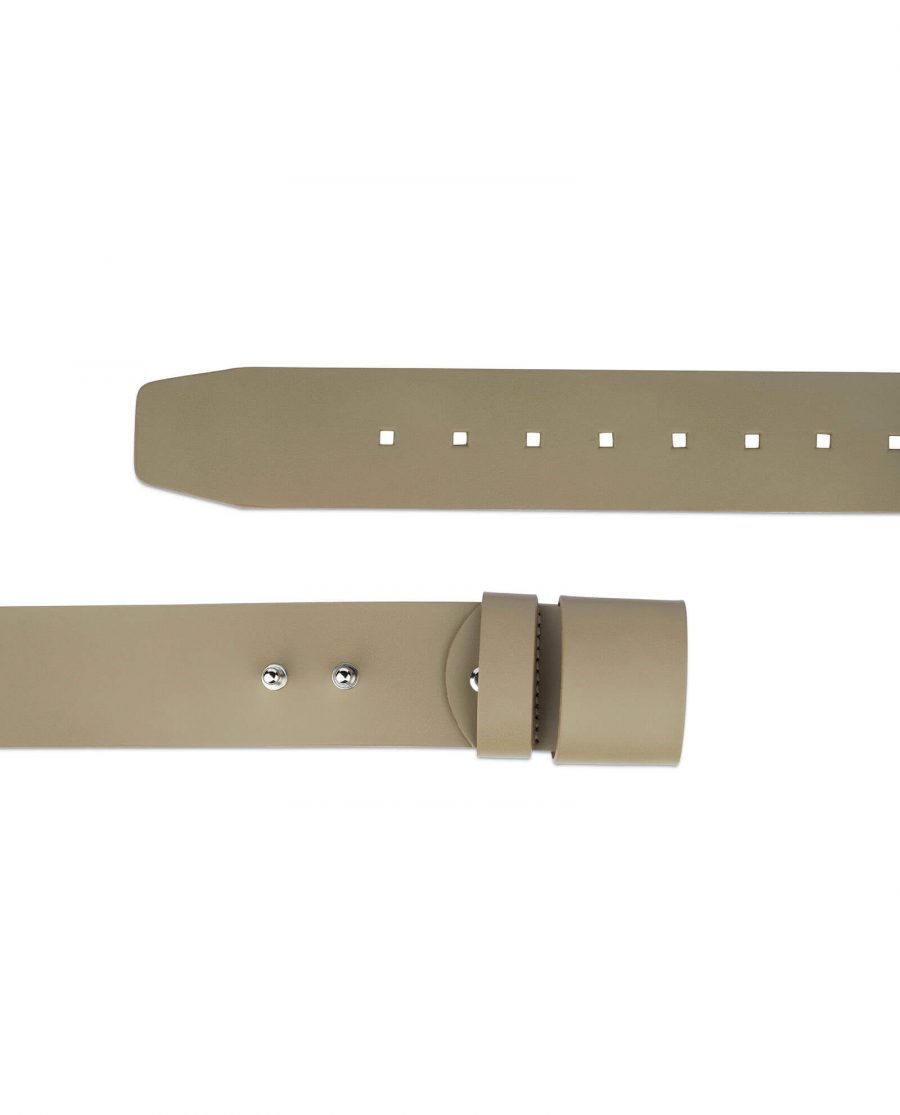 2 inch womens khaki belt without buckle 2