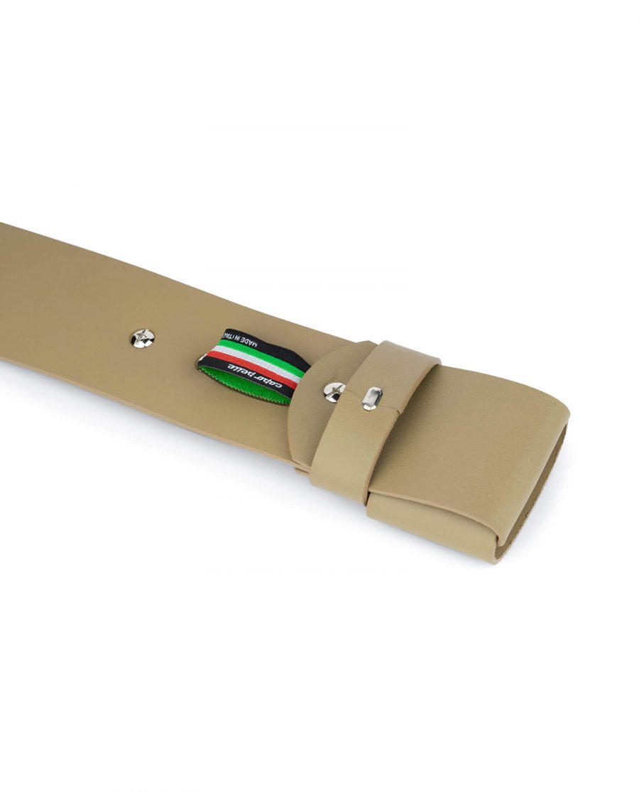 2 inch womens khaki belt without buckle 4