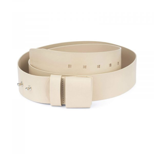 2 inch womens sand belt without buckle 1