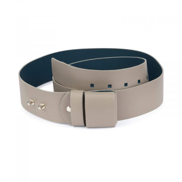 2 inch womens taupe belt without buckle 1