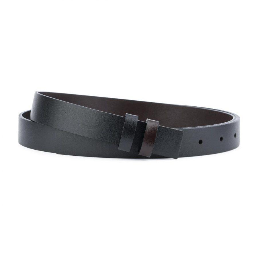 Reversible Belt Strap Black Brown 1 Inch1