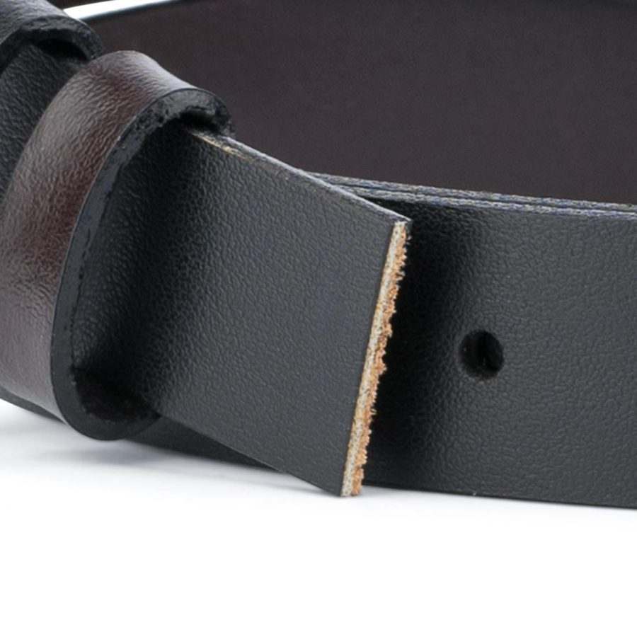 Reversible Belt Strap Black Brown 1 Inch3