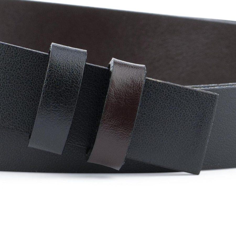 Reversible Belt Strap Black Brown 1 Inch4