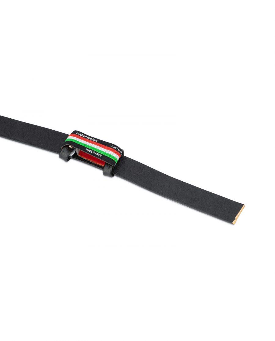 black belt leather strap 20 mm 3