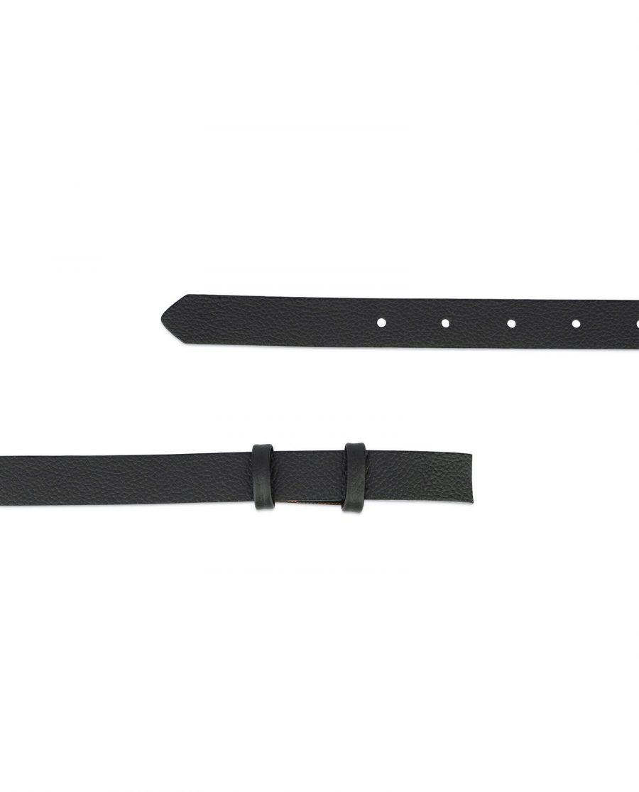 black leather belt strap 20 mm 2
