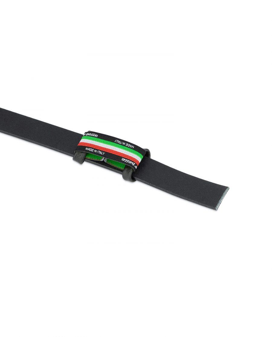 black leather belt strap 20 mm 3