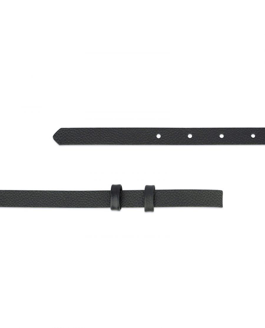 black leather strap for belt 15 mm 2