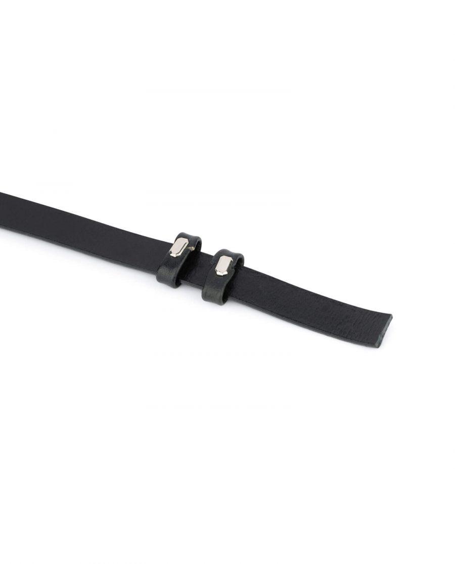 black leather strap for belt 15 mm 3