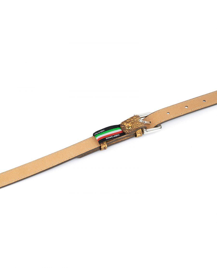 brown croco belt for women 2 0 cm 4