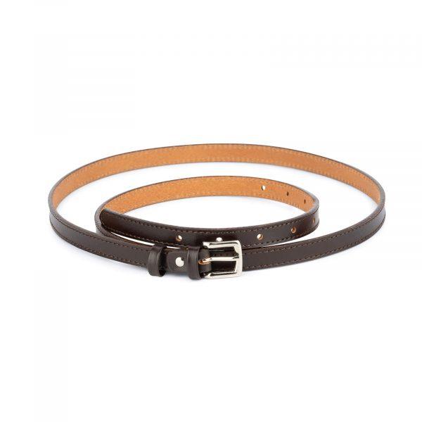 brown skinny belt for dress 1
