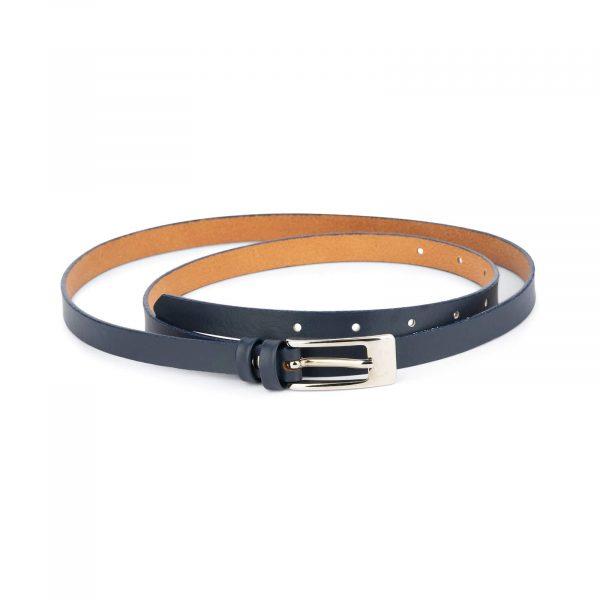 dark blue skinny belt for dresses 1