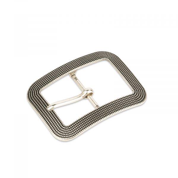 silver large women belt buckle 40 mm 1