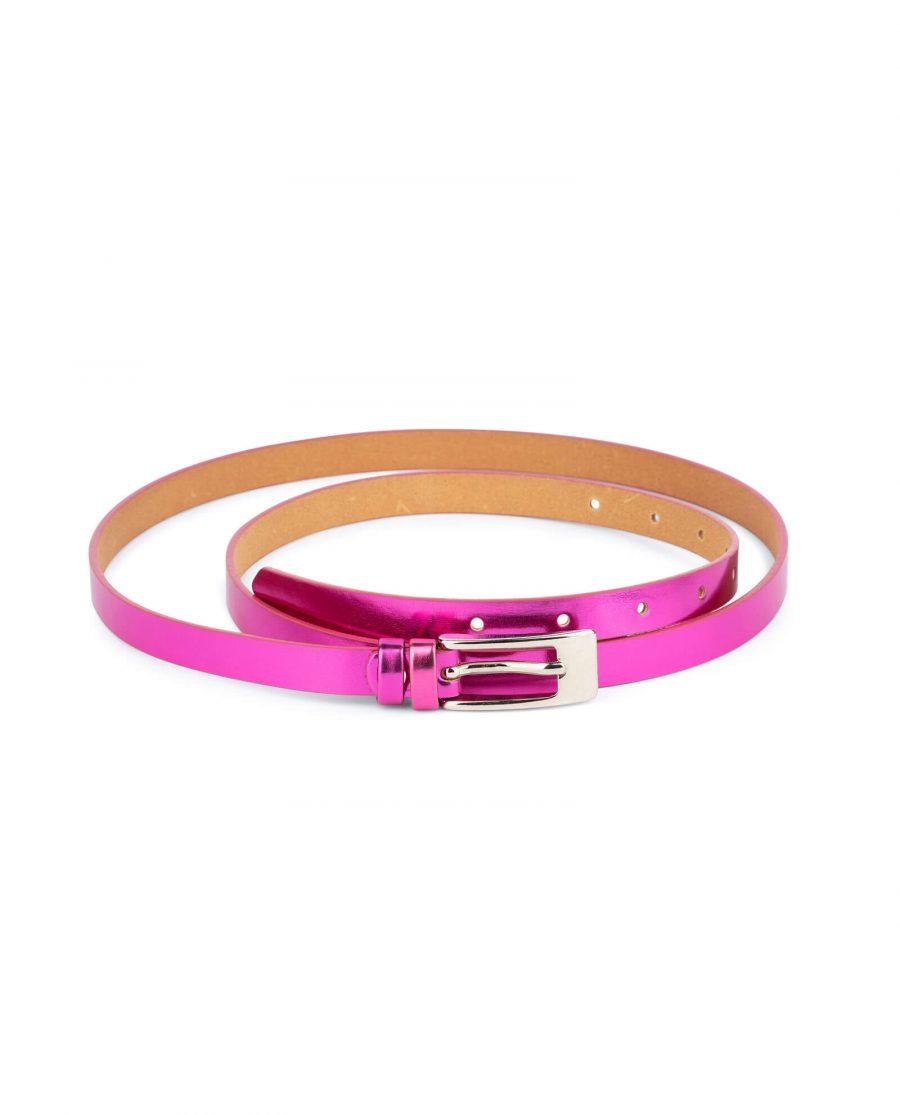 skinny fuchsia belt for women 1