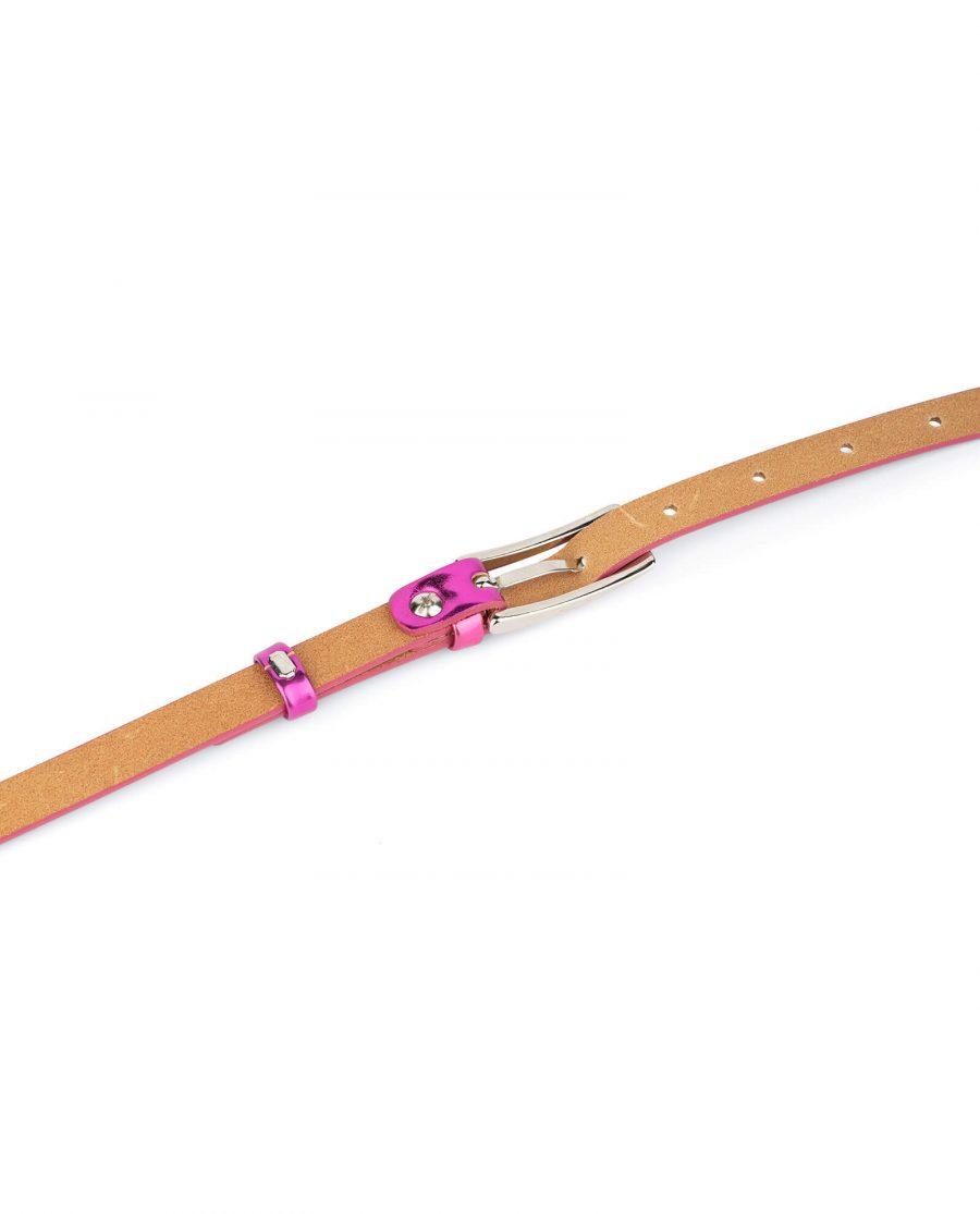 skinny fuchsia belt for women 4
