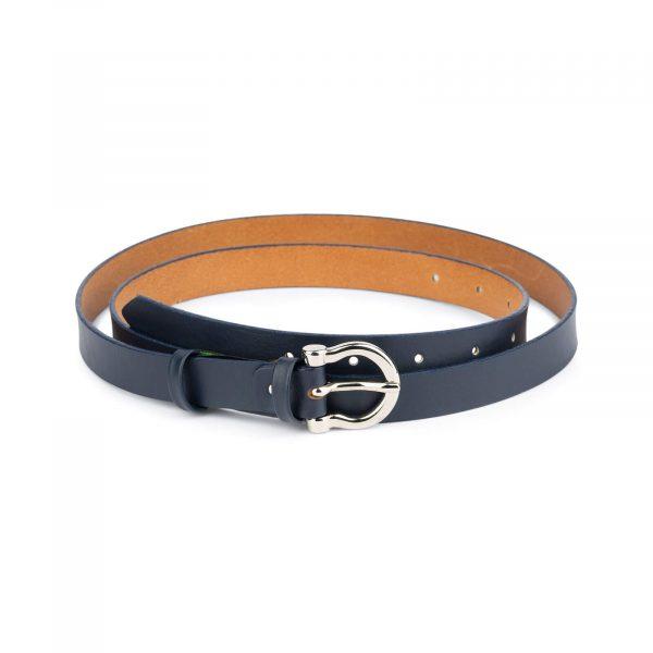 thin navy blue belt womens 1
