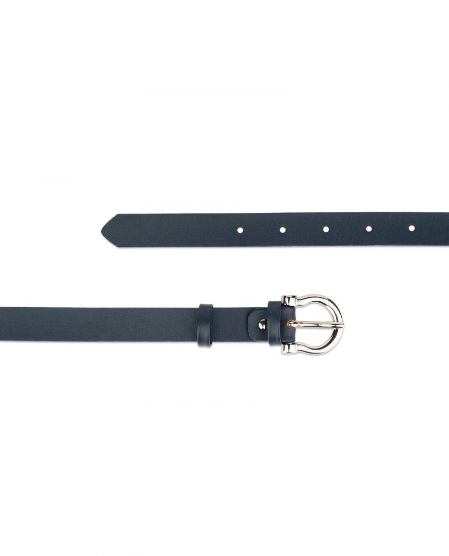 thin navy blue belt womens 2