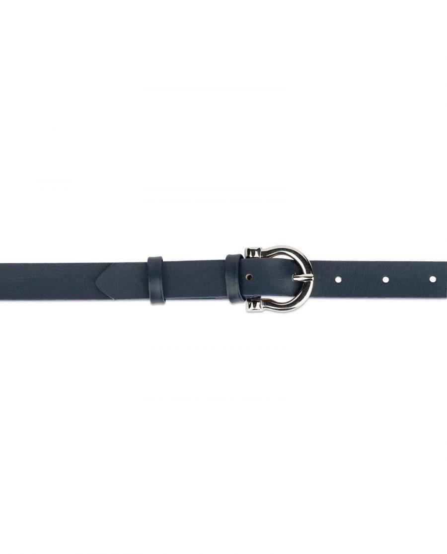 thin navy blue belt womens 3
