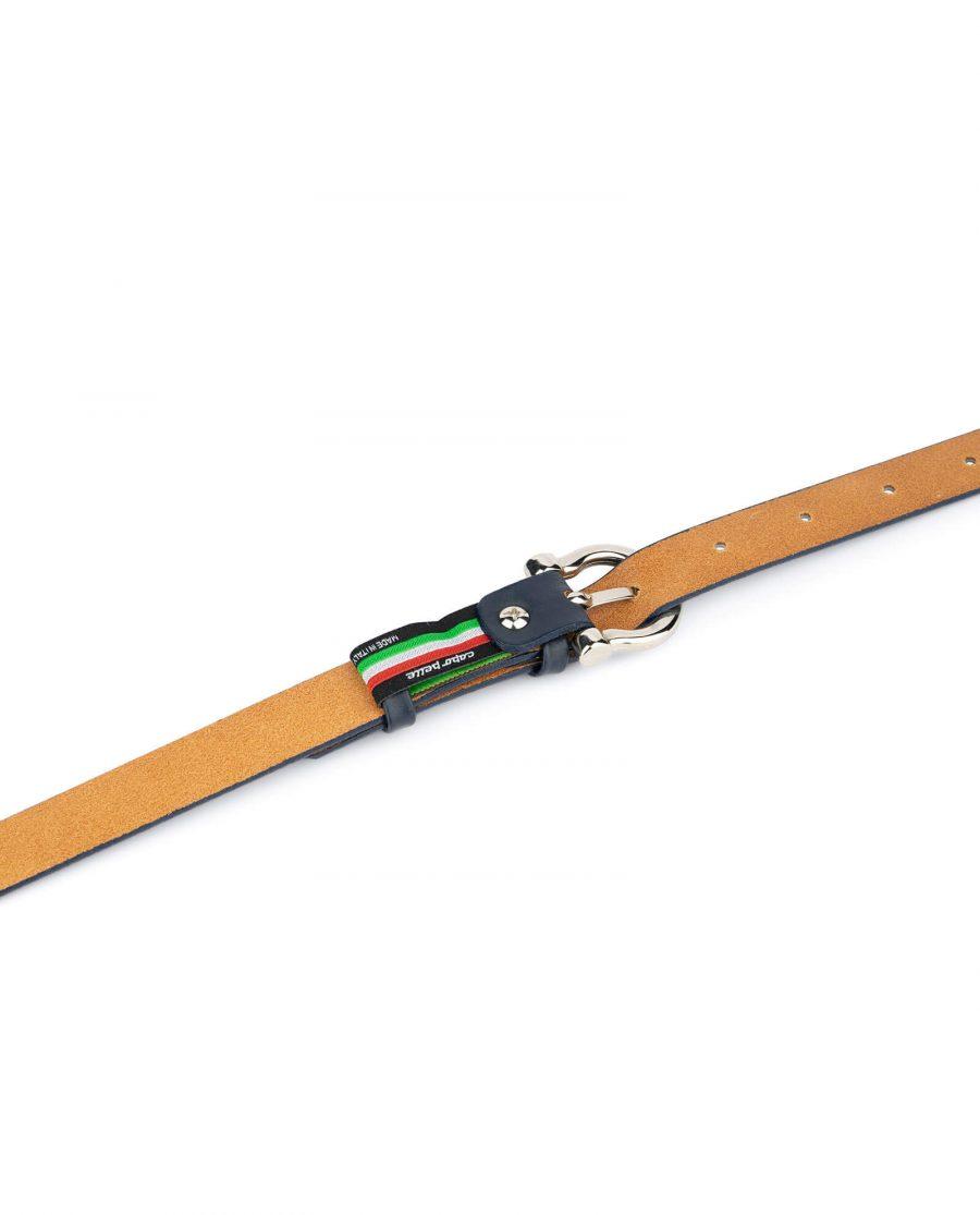 thin navy blue belt womens 4