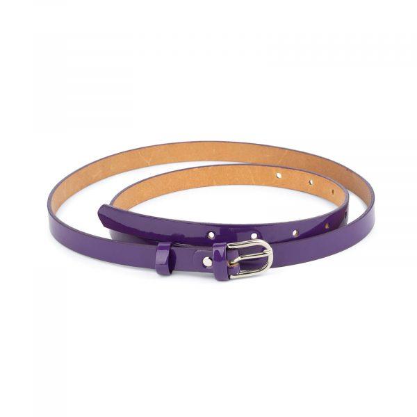 thin womens purple belt genuine leather 0