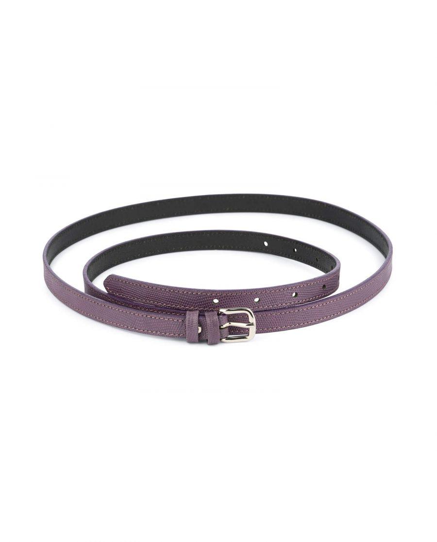 violet womens skinny belt 1