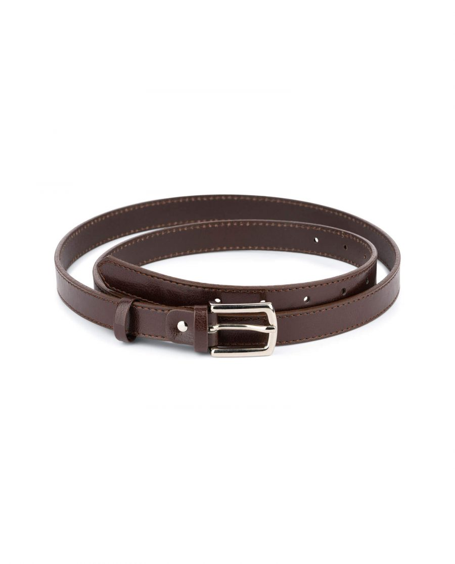 womens brown leather belt 2 0 cm 1