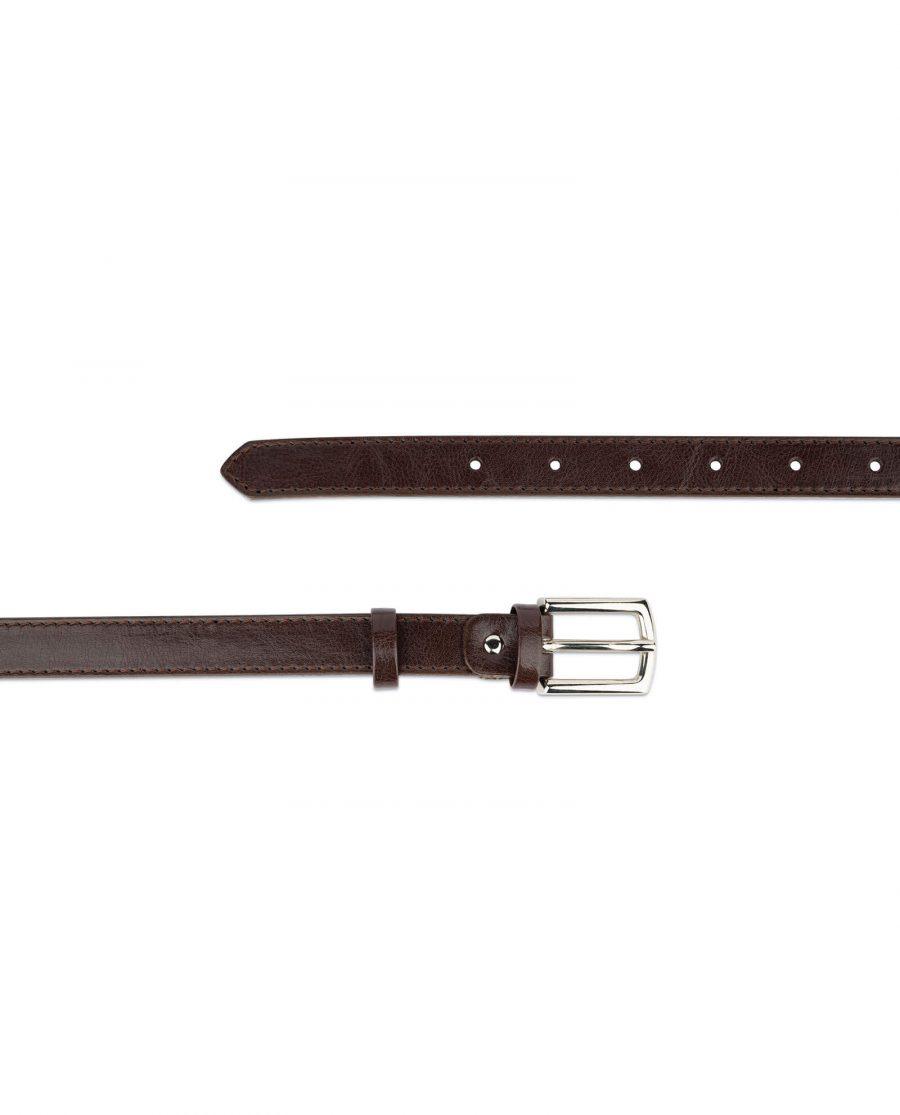 womens brown leather belt 2 0 cm 2
