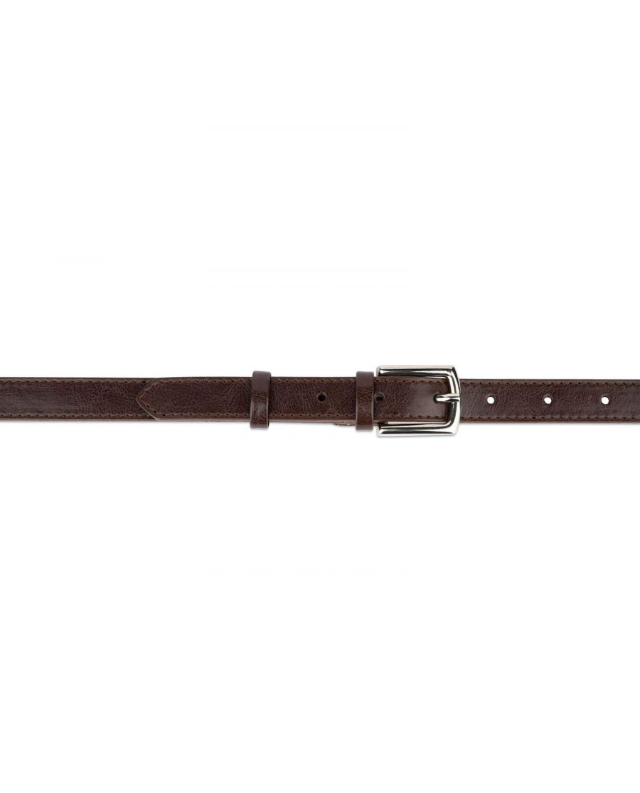 womens brown leather belt 2 0 cm 3