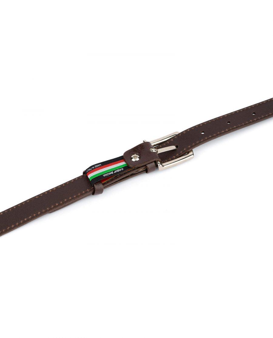womens brown leather belt 2 0 cm 4