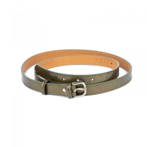 womens green belt thin 2 0 cm 1