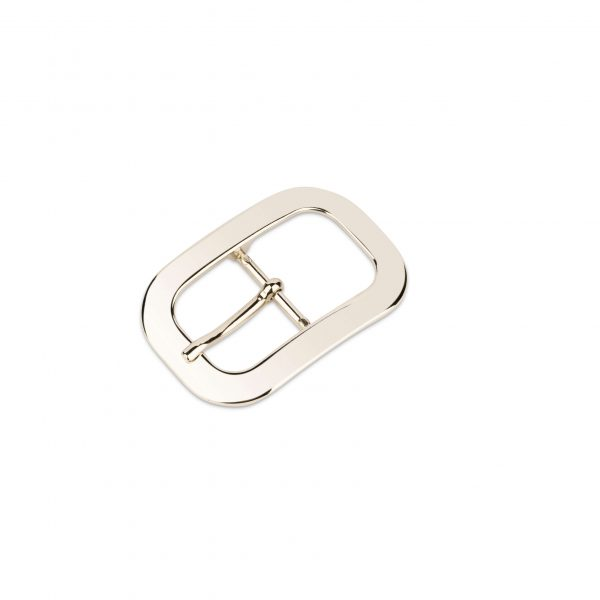 womens silver belt buckle rounded corners 30 mm 0