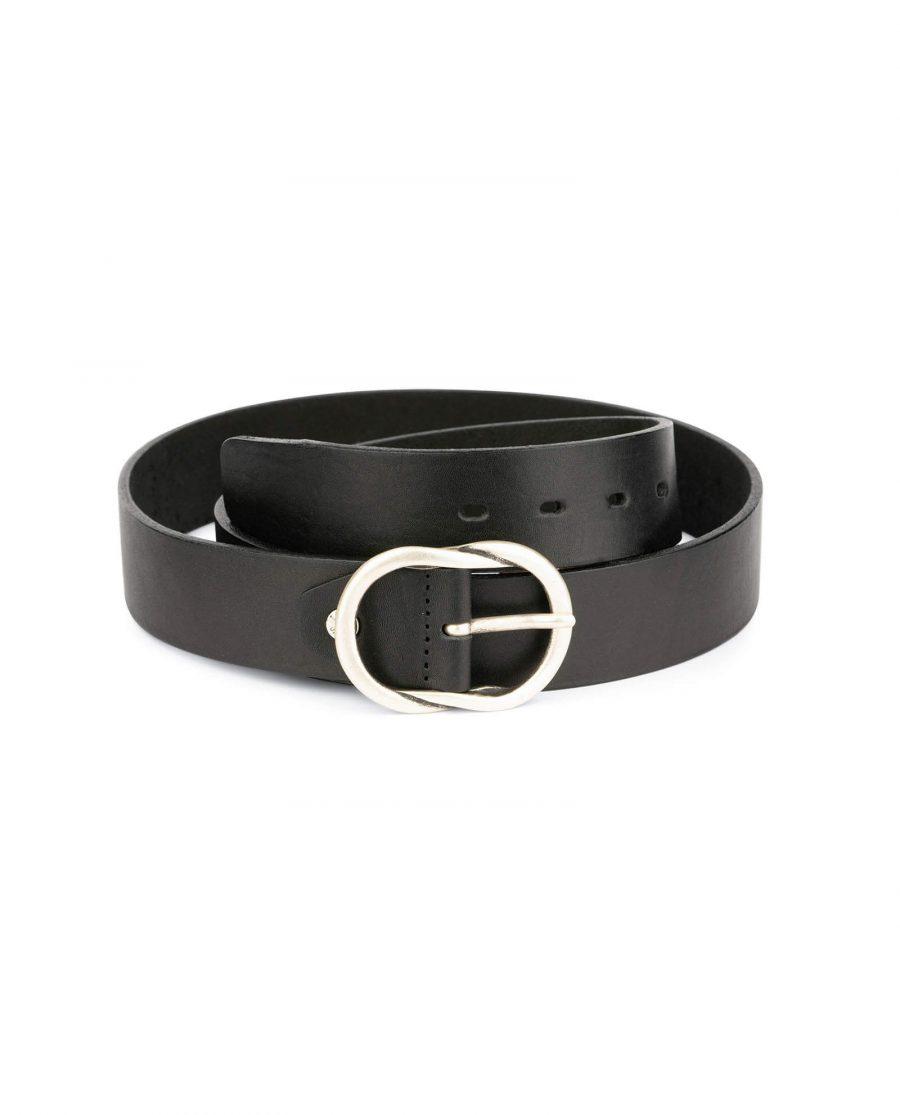 black womens full grain leather belt 12