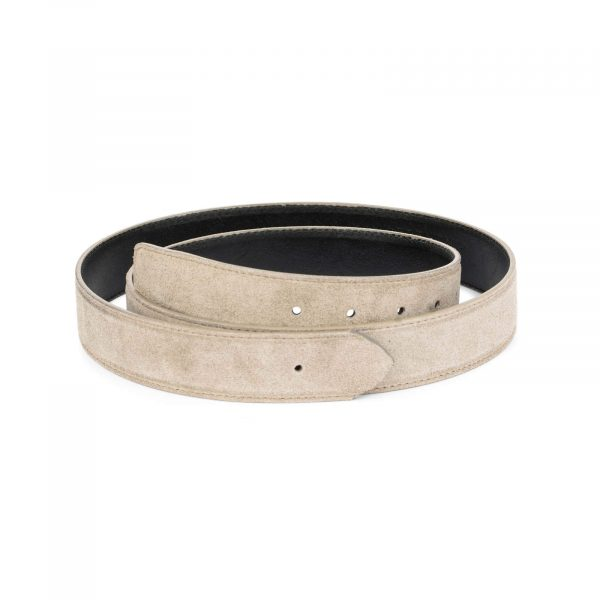 taupe belt strap for 35 mm buckle 2