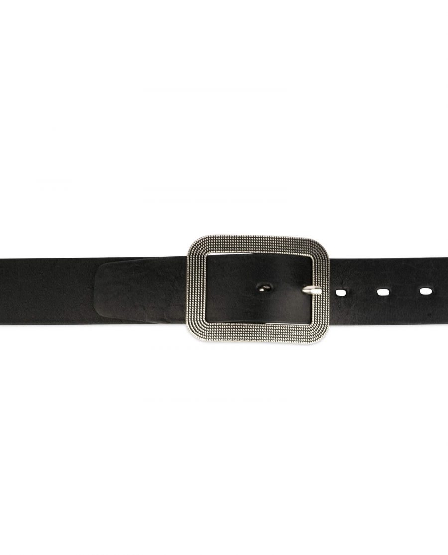 thick womens belts black full grain leather 3