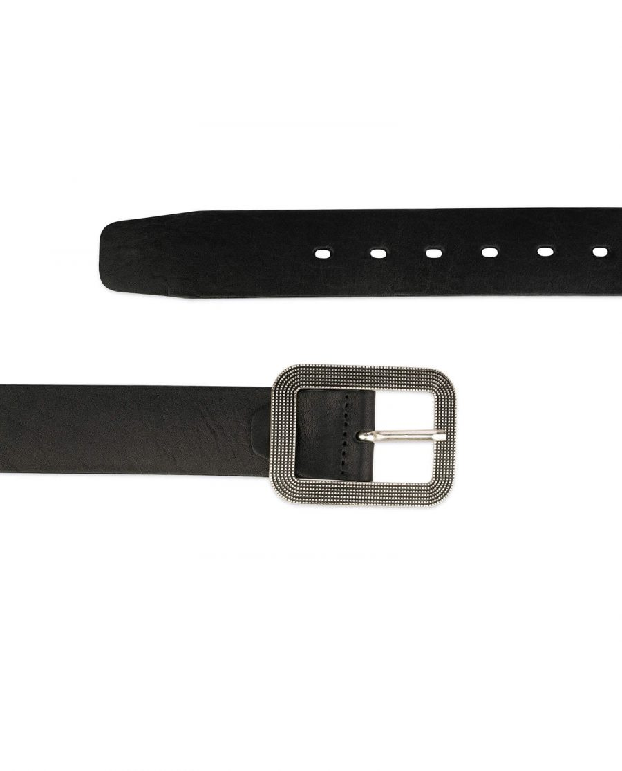 thick womens belts black full grain leather 4