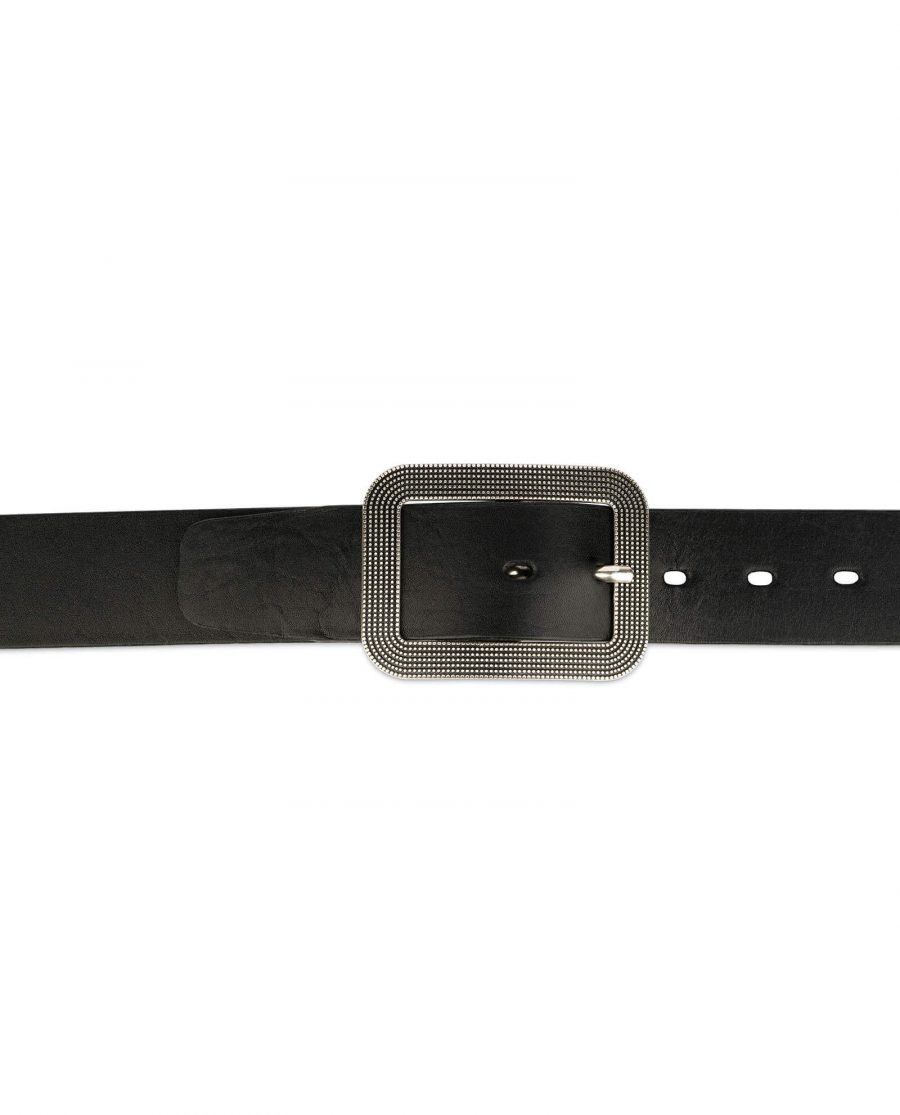 thick womens belts black full grain leather 5
