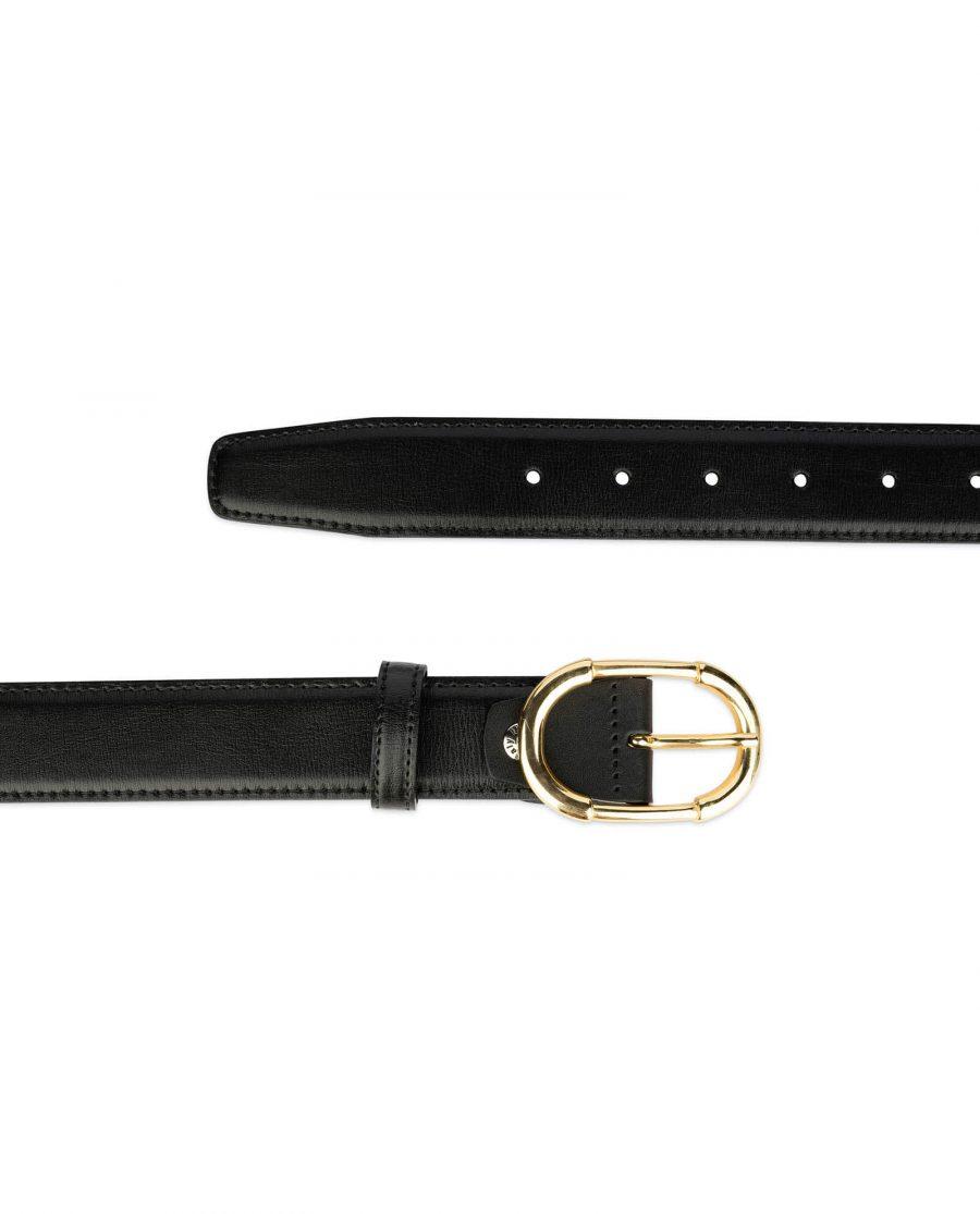 womens black belt gold buckle 3