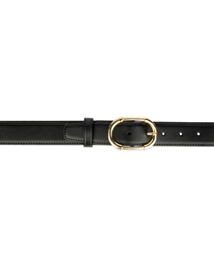womens black belt gold buckle 4