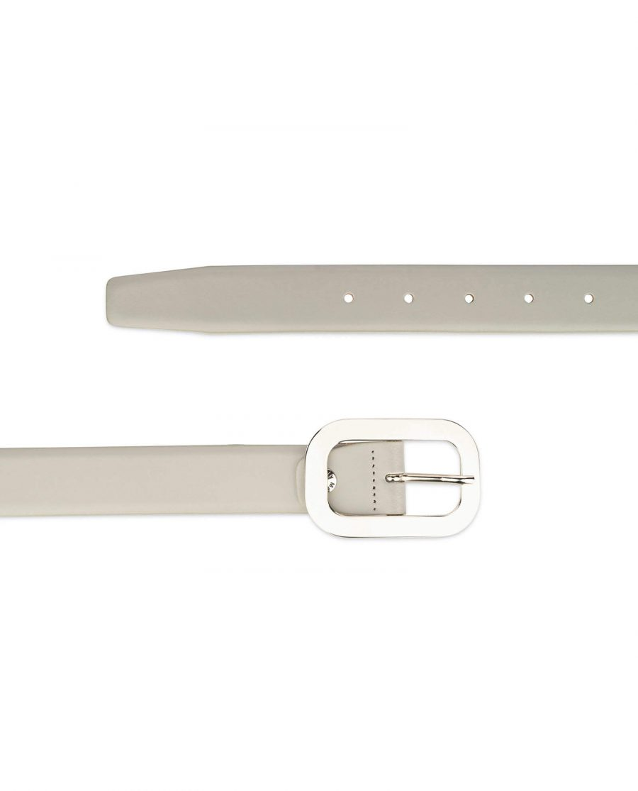 womens gray belt with nickel silver buckle 2