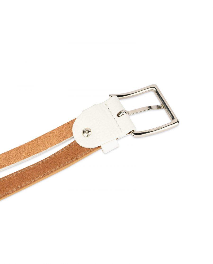 womens multi color belt beige white 5
