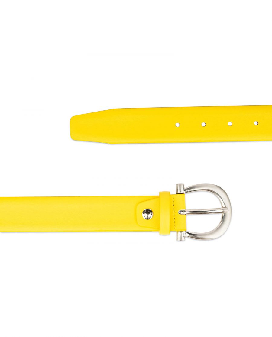 womens yellow belt with silver buckle 2