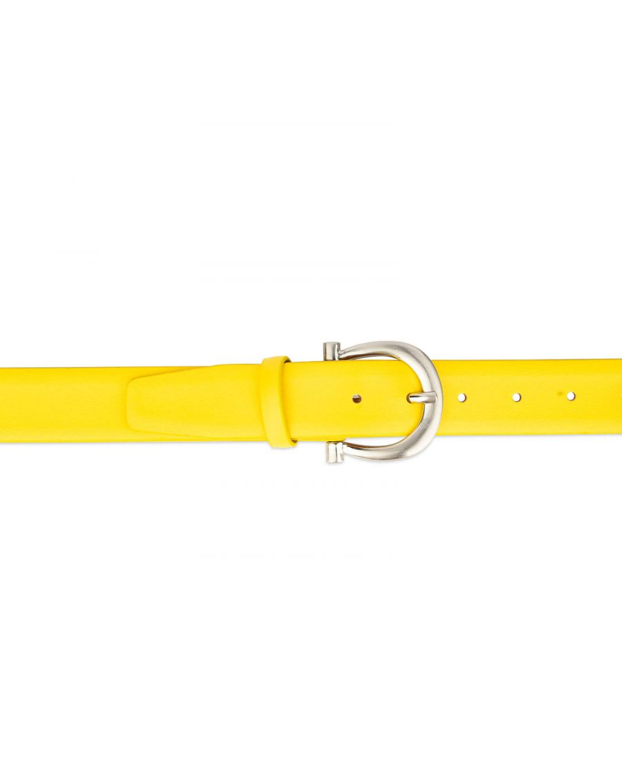womens yellow belt with silver buckle 3