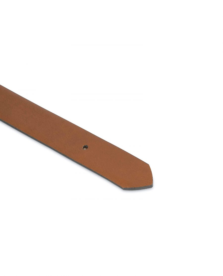 1 inch brown leather belt strap 1