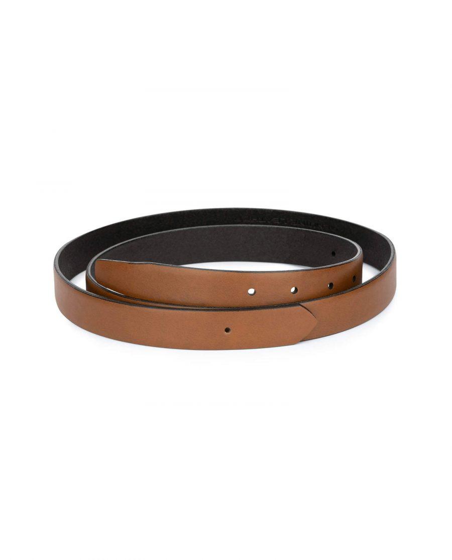 1 inch brown leather belt strap 2