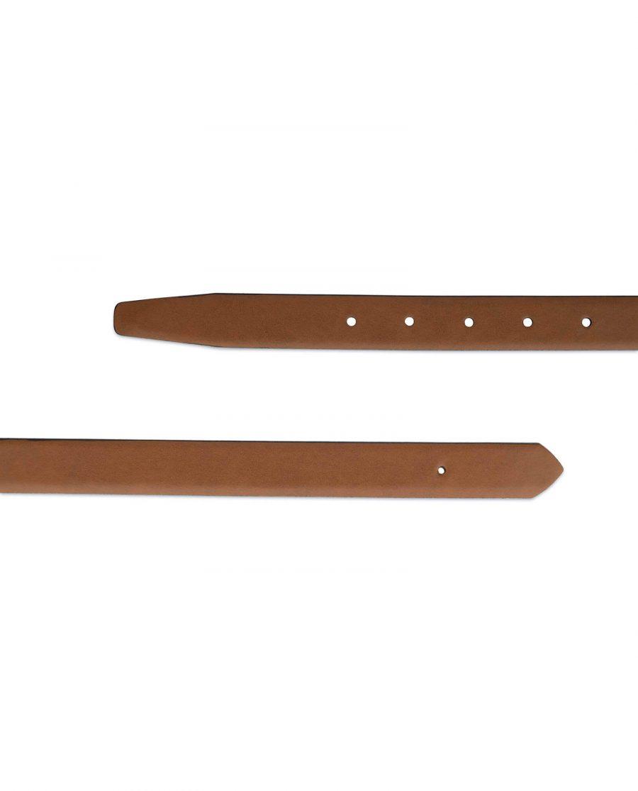 1 inch brown leather belt strap 3